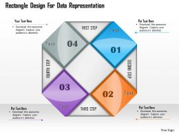 1114 Rectangle Design For Data Representation Powerpoint Template