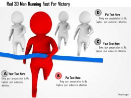 1114 Red 3d Man Running Fast For Victory Ppt Graphics Icons