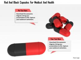 1114 Red And Black Capsules For Medical And Health Image Graphics For Powerpoint