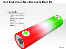 1114 Red And Green Cell For Power Back Up Image Graphic For Powerpoint