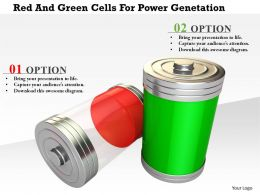 1114 Red And Green Cells For Power Genetation Image Graphic For Powerpoint