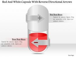 1114 Red And White Capsule With Reverse Directional Arrows Powerpoint Template