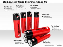 1114 Red Battery Cells For Power Back Up Image Graphic For Powerpoint