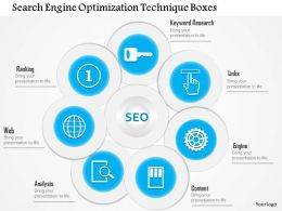 1114 Search Engine Optimization Technique Boxes PowerPoint Template