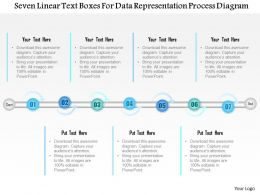 1114 Seven Linear Text Boxes For Data Representation Process Diagram Powerpoint Template