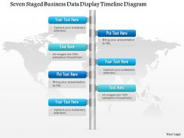 1114 Seven Staged Business Data Display Timeline Diagram Powerpoint Template