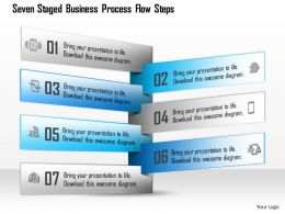 1114 Seven Staged Business Process Flow Steps Powerpoint Template