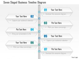 1114 Seven Staged Business Timeline Diagram Powerpoint Template