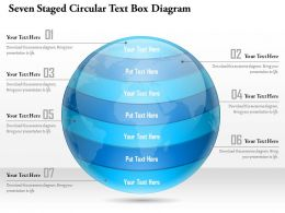 1114 Seven Staged Circular Text Box Diagram Powerpoint Template