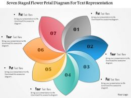 1114 Seven Staged Flower Petal Diagram For Text Representation Powerpoint Template