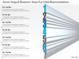 1114 Seven Staged Numeric Steps For Data Representation Powerpoint Template
