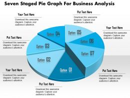 1114 Seven Staged Pie Graph For Business Analysis Powerpoint Template