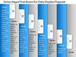 1114 Seven Staged Text Voxes For Data Display Diagram Powerpoint Template
