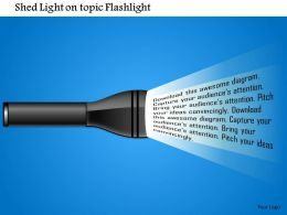 1114 Shed Light On Topic Flashlight Powerpoint Presentation