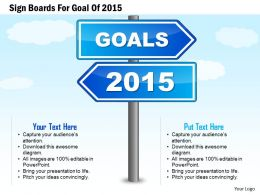 1114 Sign Boards For Goal Of 2015 Presentation Template