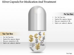 1114 Silver Capsule For Medication And Treatment Powerpoint Template
