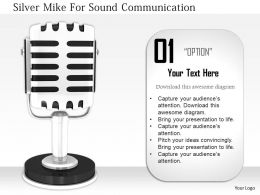 1114 Silver Mike For Sound Communication Image Graphics For Powerpoint