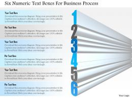 1114 Six Numeric Text Boxes For Business Process Powerpoint Template