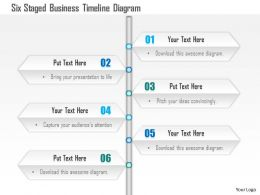 1114 Six Staged Business Timeline Diagram Powerpoint Template