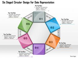 1114 Six Staged Circular Design For Data Representation Powerpoint Template