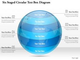 1114 Six Staged Circular Text Box Diagram Powerpoint Template