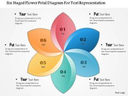 1114 Six Staged Flower Petal Diagram For Text Representation Powerpoint Template