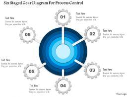 1114 Six Staged Gear Diagram For Process Control Presentation Template