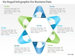 1114 Six Staged Infographic For Business Data PowerPoint Template