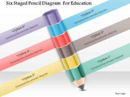 1114 Six Staged Pencil Diagram For Education Powerpoint Template