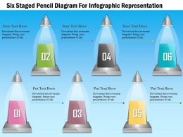 1114 Six Staged Pencil Diagram For Infographic Representation Powerpoint Template