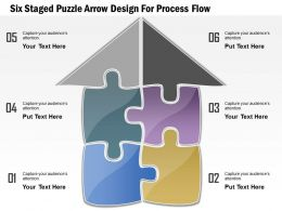 1114 Six Staged Puzzle Arrow Design For Process Flow Powerpoint Template
