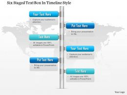 1114 Six Staged Text Box In Timeline Style Powerpoint Template