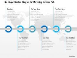 1114 Six Staged Timeline Diagram For Marketing Success Path Powerpoint Template