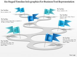 1114 Six Staged Timeline Infographics For Business Text Representation Powerpoint Template