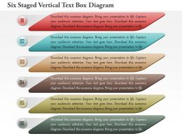 1114 Six Staged Vertical Text Box Diagram Powerpoint Template