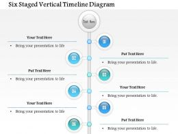 1114 Six Staged Vertical Timeline Diagram Powerpoint Template