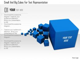 1114 Small And Big Cubes For Text Representation Image Graphic For Powerpoint
