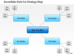 1114 Snowflake Placement Style For Strategy Map Powerpoint Presentation