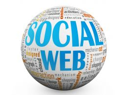 1114 Social Web Text On Sphere Stock Photo