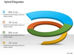 1114 Spiral Diagrams For Powerpoint Powerpoint Presentation