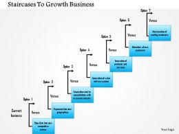 1114 Staircases To Growth Business Powerpoint Presentation