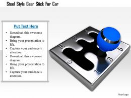1114_steel_style_gear_stick_for_car_image_graphics_for_powerpoint_Slide01