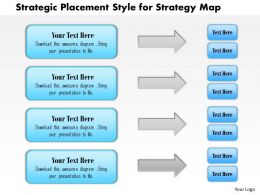 1114 Strategic Placement Style For Strategy Map Powerpoint Presentation