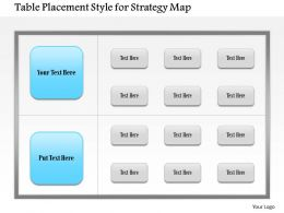 1114 Table Placement Style For Strategy Map Powerpoint Presentation