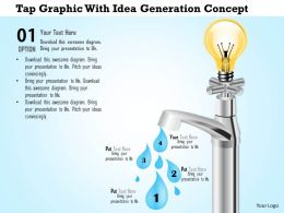 1114 Tap Graphic With Idea Generation Concept Powerpoint Template