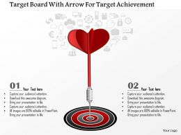 1114 Target Board With Arrow For Target Achievement Presentation Template