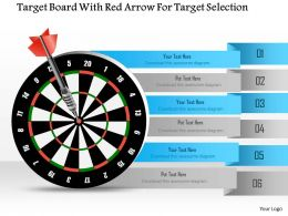 1114_target_board_with_red_arrow_for_target_selection_powerpoint_template_Slide01