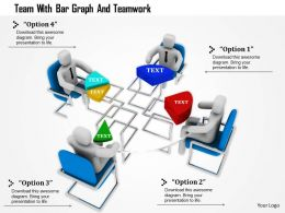 1114 Team With Bar Graph And Teamwork Ppt Graphics Icons