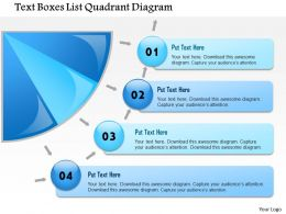 1114 Text Boxes List Quadrant Diagram Powerpoint Presentation