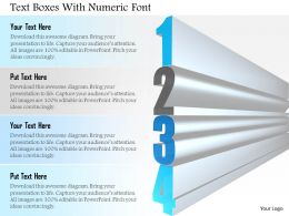 1114 Text Boxes With Numeric Font Powerpoint Template